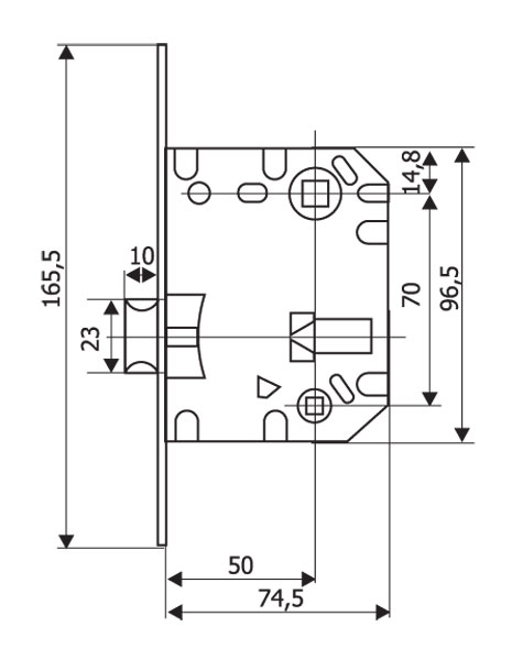 Защелка сантехническая Renz LB 2070, с пластиковым язычком