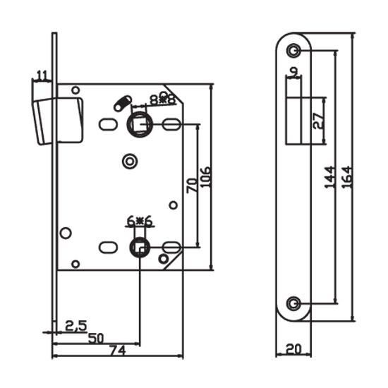 Защелка сантехническая магнитная Renz Magn 2070