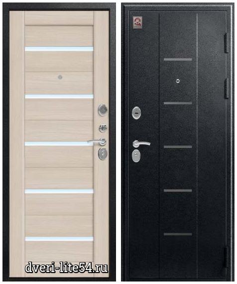 Входная дверь Центурион C 105, чёрный муар-лиственница светлая (Х7 Вена)