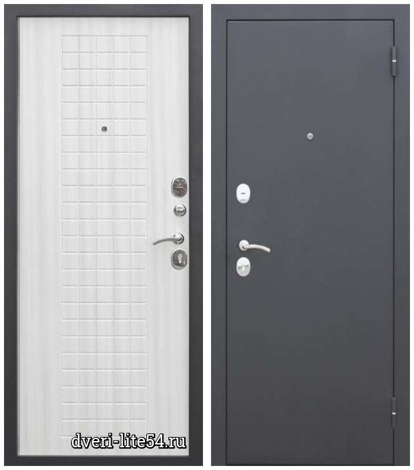 Ferroni, Гарда Муар 8 мм, чёрный муар / белый ясень