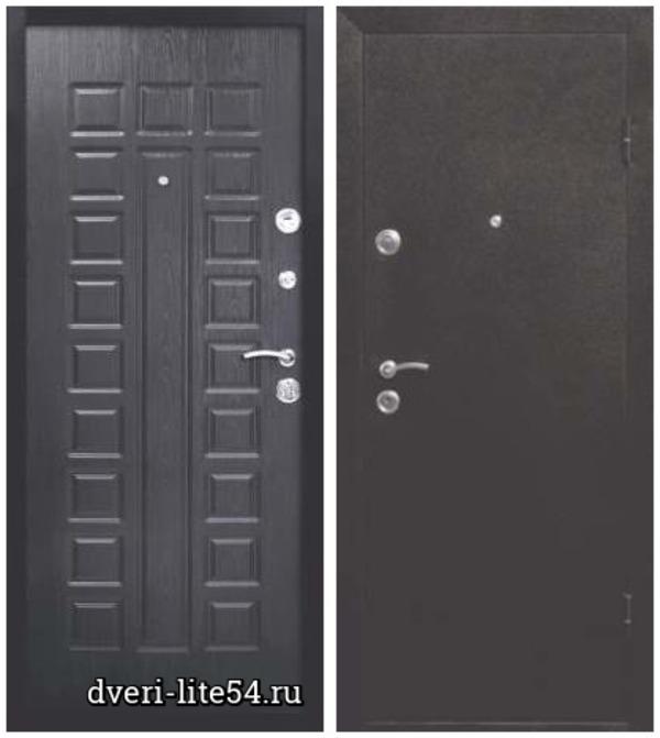 Входная металлическая дверь Ferroni, Йошкар, медный антик / венге